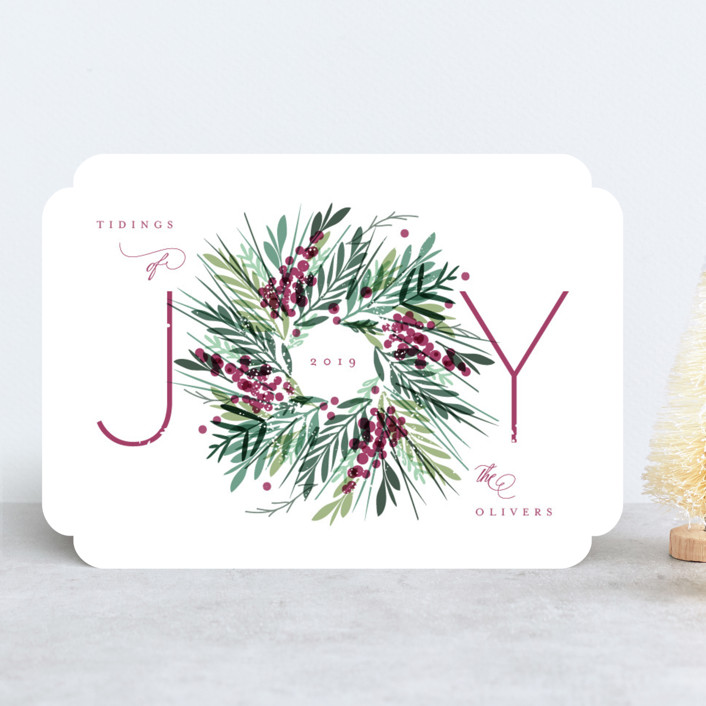 """Gathered"" - Holiday Cards in Sugar Plum by Kristie Kern."