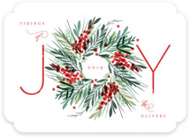 This is a red non photo holiday card by Kristie Kern called Gathered with standard printing on signature in standard.