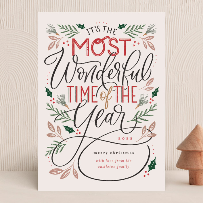 """""""The Most Wonderful"""" - Vintage Holiday Cards in Cozy by Erin German."""