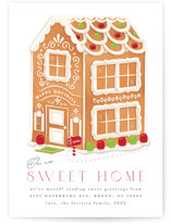 This is a green non photo holiday card by Ana de Sousa called sweet home with standard printing on signature in standard.