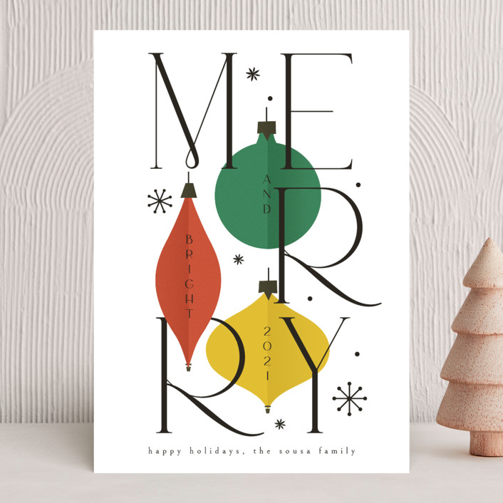 """""""Merry&Bright"""" - Holiday Cards in Snow by Ana de Sousa."""