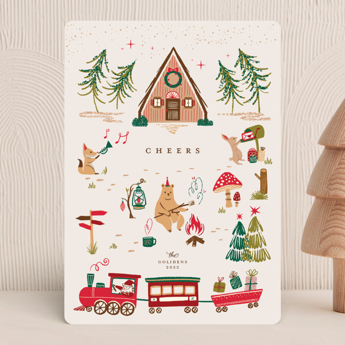 """""""Woodland Wonderland"""" - Vintage Holiday Cards in Candy by Vivian Yiwing."""