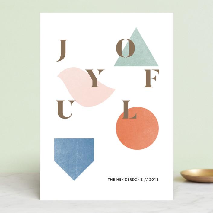 """Geel"" - Modern Holiday Cards in Marmalade by Aspacia Kusulas."