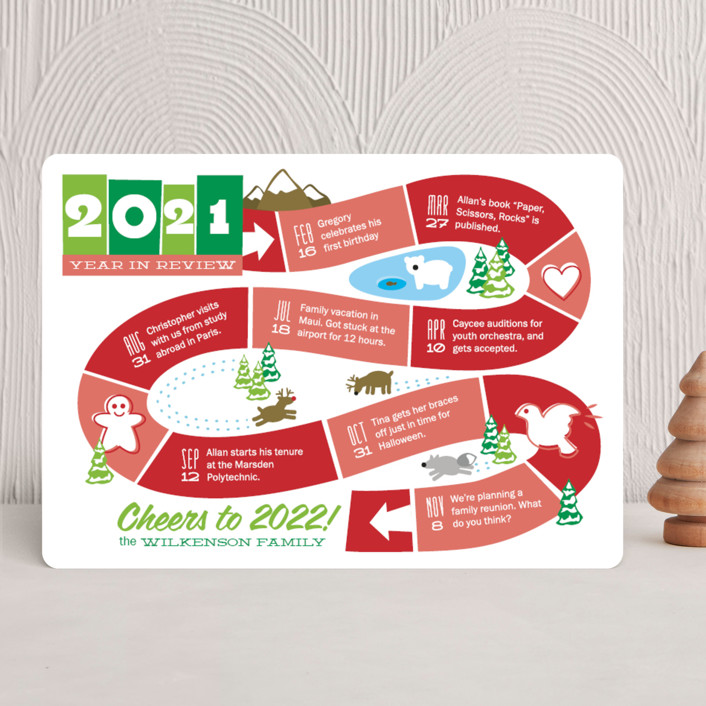 """Year: The Board Game"" - Funny Holiday Cards in Fruit Punch by Betta."