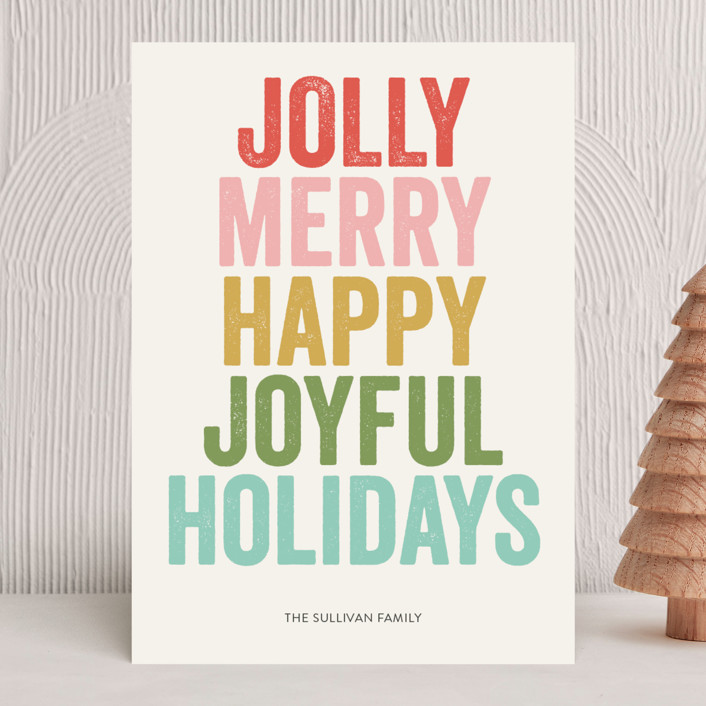 """""""jolly words"""" - Holiday Cards in Golden by design market."""