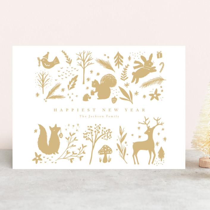 """choux"" - Bohemian Holiday Cards in Cinnamon by chocomocacino."