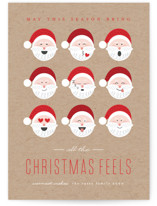 This is a brown non photo holiday card by Erica Krystek called Christmas Feels with standard printing on signature in standard.