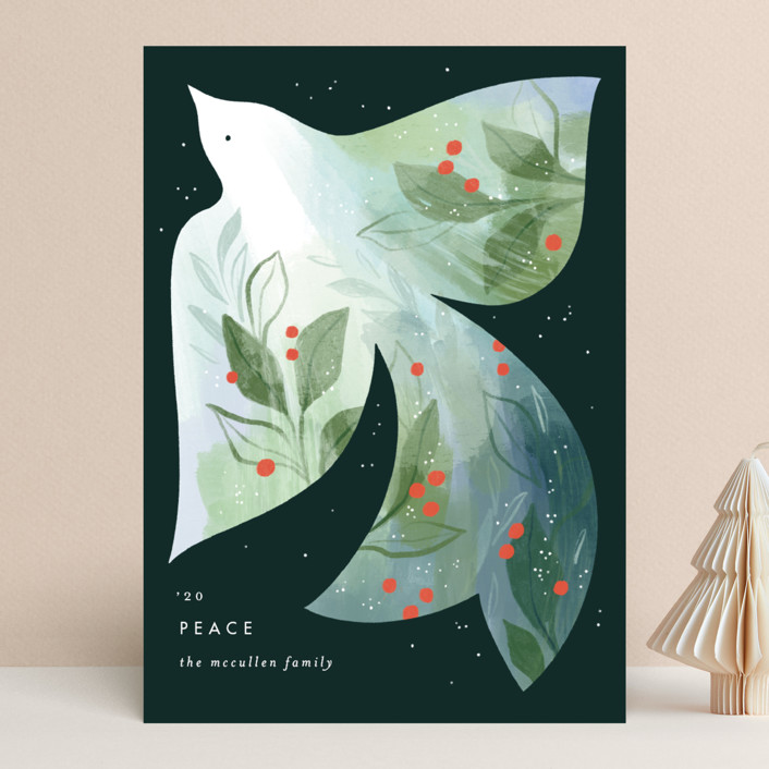 """Alight"" - Bohemian Holiday Cards in Forest by Paper Raven Co.."
