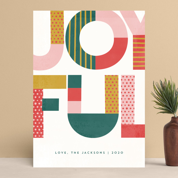 """""""Lotta Fun"""" - Modern Holiday Cards in Frost Berries by Anna Elder."""