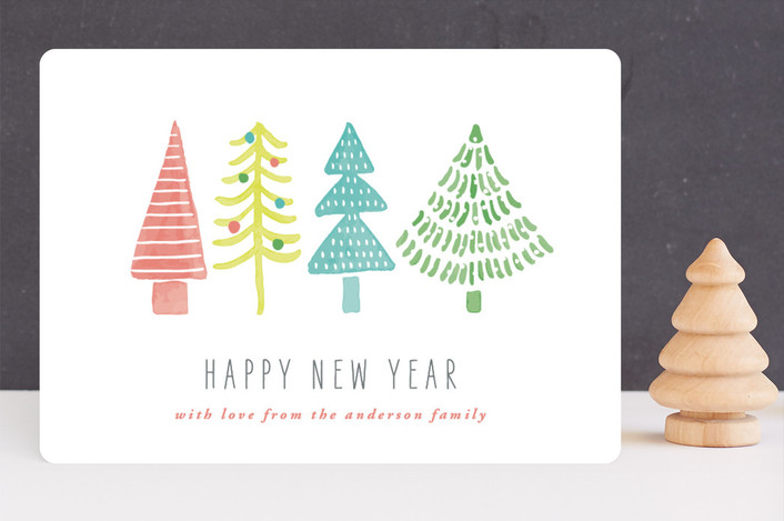 """Whimsical Trees"" - Holiday Cards in Frost by Beth Schneider."