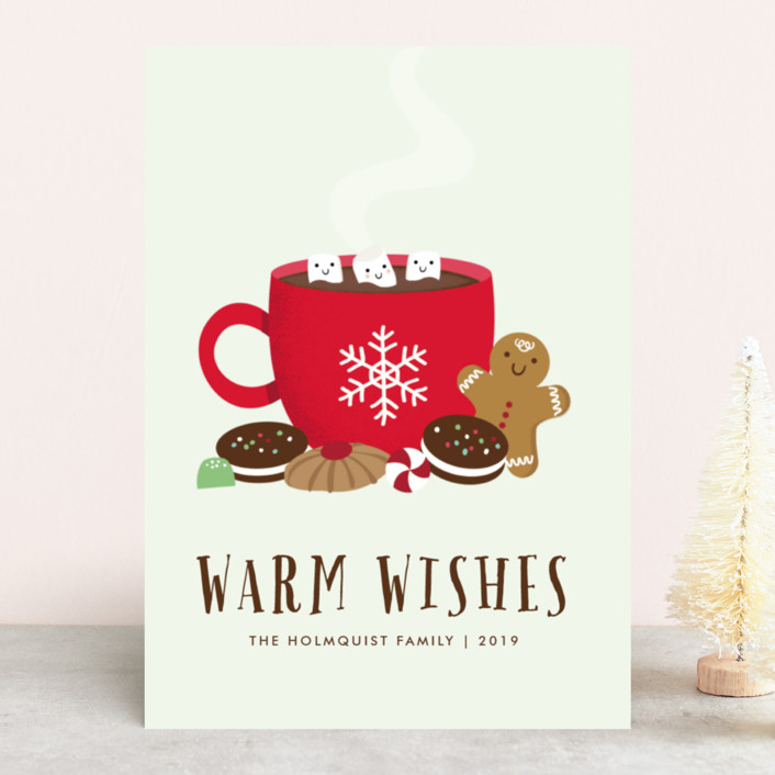 """""""Cozy Cocoa"""" - Vintage Holiday Cards in Mint by Annie Holmquist."""