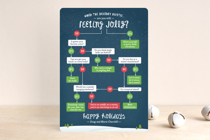"""Feeling Jolly?"" - Holiday Cards in Night Sky by Ann Gardner."