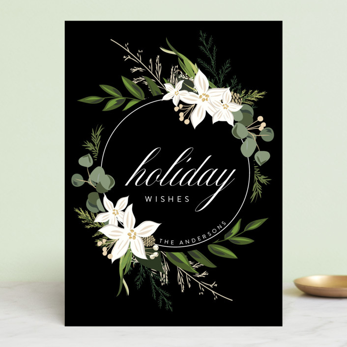 """""""Holiday Wishes"""" - Holiday Cards in Ebony by Susan Moyal."""