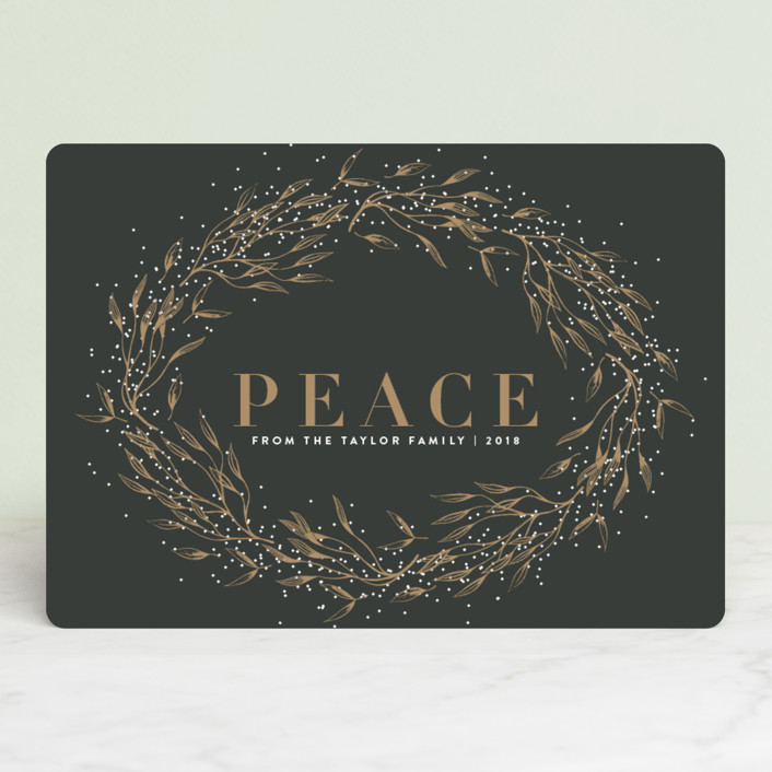 """winter bliss"" - Holiday Cards in Goldluxe by Design Lotus."