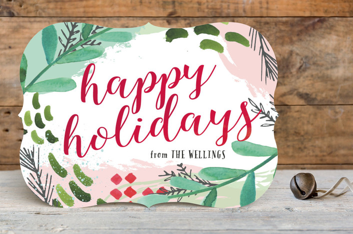 """""""Have Yourself a Very Funky Christmas"""" - Holiday Cards in Cranberry by Makewells."""