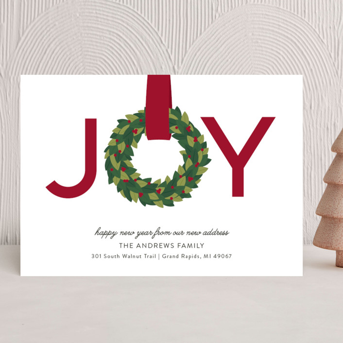 Joy Wreath Holiday Cards by Sarah Brown | Minted