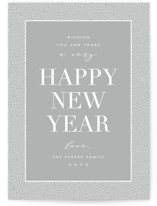 This is a grey non photo holiday card by AK Graphics called des points with standard printing on signature in standard.