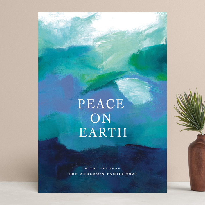 """Peaceful Earth"" - Holiday Cards in Ocean by Jenny Partrite."