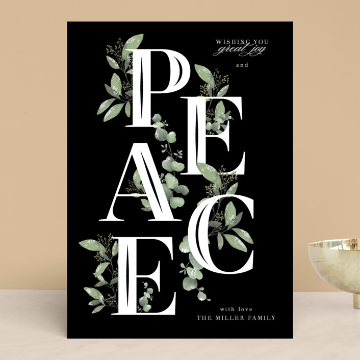 """""""Vining Peace"""" - Holiday Cards in Holly by Grace Kreinbrink."""