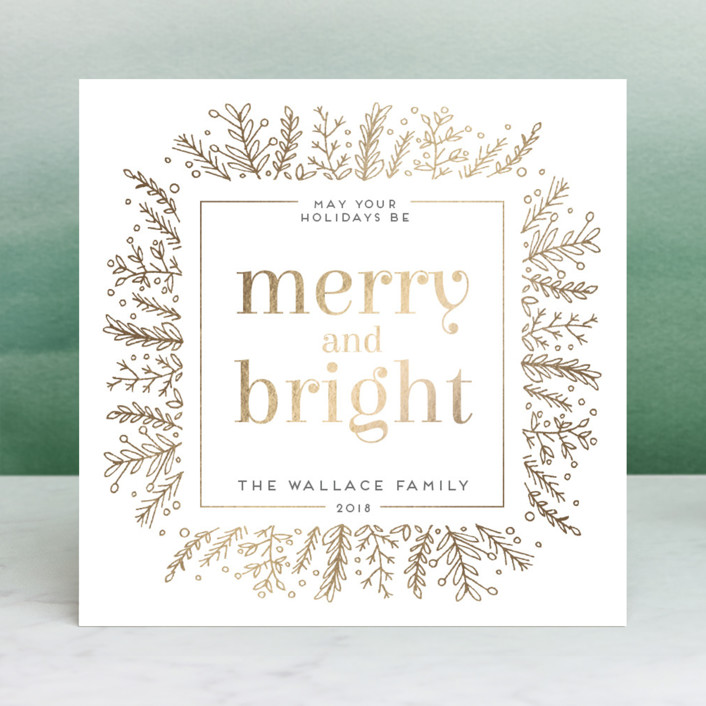 """""""Golden Foliage"""" - Vintage Holiday Cards in Golden Trumpet by Bethan."""