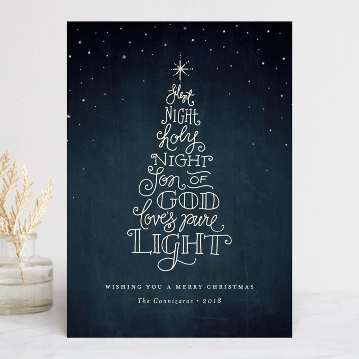 """Holy Night"" - Holiday Cards in Midnight by Jennifer Wick."