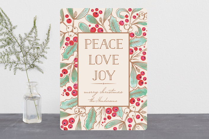 """Vintage Xmas Bunch"" - Vintage Holiday Cards in Ivory by Petra Kern."