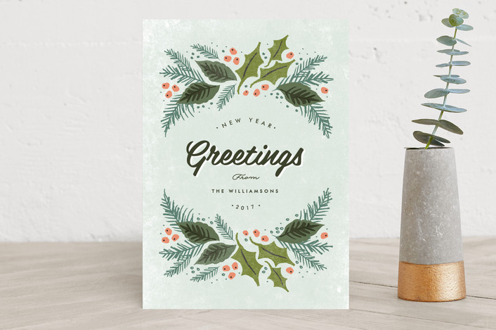 """""""winter evergreens"""" - Holiday Cards in mist by Karidy Walker."""