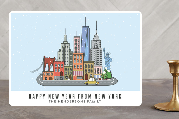 """I love New York"" - Holiday Cards in black by Ariel Troche."