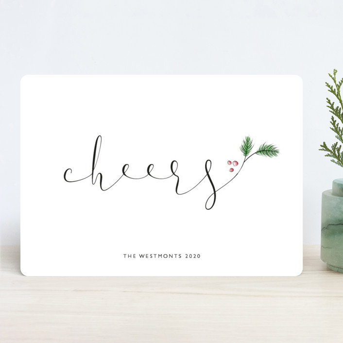 """Evergreen Merry"" - Holiday Cards in Winter by Erin Deegan."
