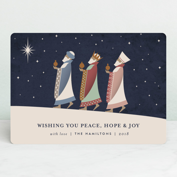 """""""The Magi"""" - Vintage Holiday Cards in Midnight by Kampai Designs."""