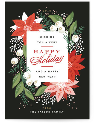 Greeting Card Floral Holiday Non-Photo Cards