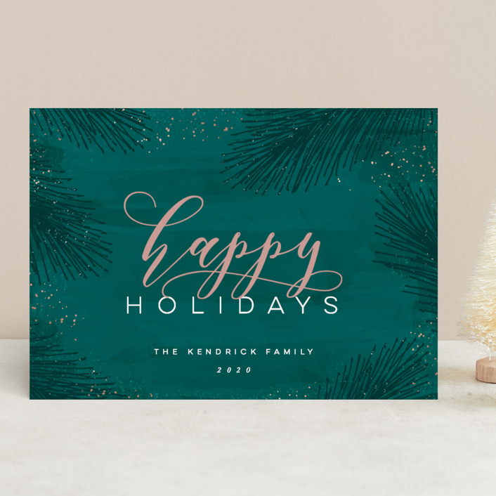 """Elegant Evergreen"" - Holiday Cards in Evergreen by Hooray Creative."