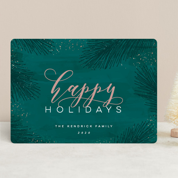 """""""Elegant Evergreen"""" - Holiday Cards in Evergreen by Hooray Creative."""