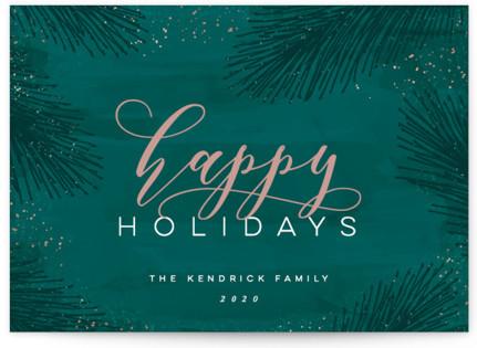 Elegant Evergreen Holiday Non-Photo Cards
