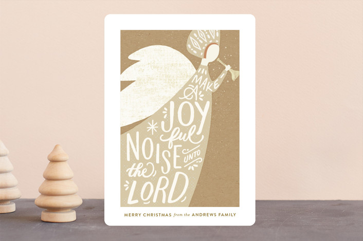 """Joyful Noise"" - Vintage Holiday Cards in Kraft by Griffinbell Paper Co.."