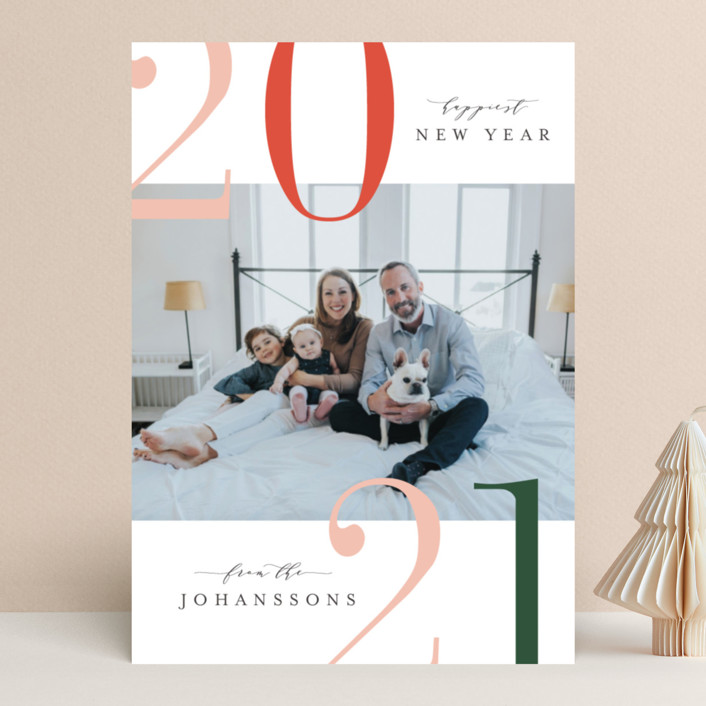 """Winter Bright"" - Modern New Year Photo Cards in Classic Holiday by Kristie Kern."
