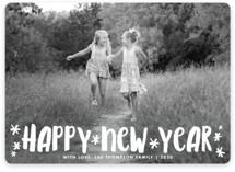 Fun Happy Type New Year Photo Cards