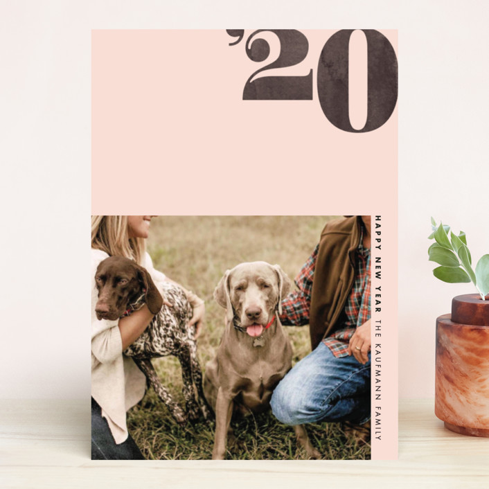 """Calendar Year"" - New Year Photo Cards in Poppy by Jennifer Lew."
