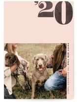 This is a pink new year photo card by Jennifer Lew called Calendar Year with standard printing on smooth signature in standard.