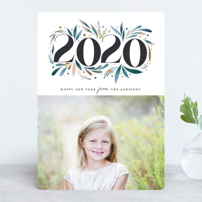 """""""Nature Rejoice"""" - New Year Photo Cards in Ocean by Grae Sales."""