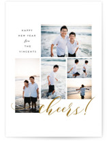 This is a yellow new year photo card by Grae Sales called Simple Boxes with standard printing on smooth signature in standard.