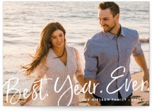 This is a white new year photo card by Amy Payne called Best Year Ever with standard printing on smooth signature in standard.