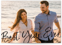 This is a black new year photo card by Amy Payne called Best Year Ever with standard printing on smooth signature in standard.
