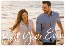 This is a white new year photo card by Amy Payne called Best Year Ever with standard printing on recycled smooth signature in standard.
