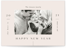 This is a white new year photo card by Marina Onoprienko called Magic Year with standard printing on smooth signature in standard.