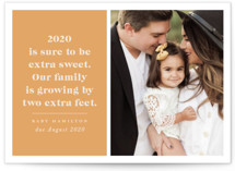 This is a orange new year photo card by Hudson Meet Rose called Extra Sweet with standard printing on smooth signature in standard.