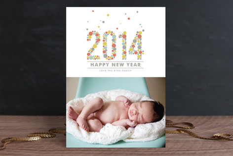 2014 in Confetti New Year Photo Cards
