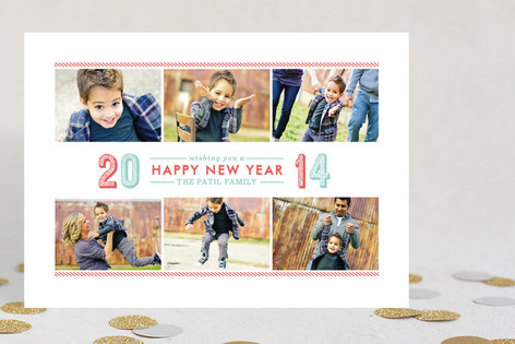 Bold Year New Year Photo Cards
