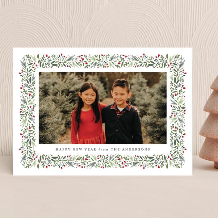 """""""freshly framed"""" - New Year Photo Cards in Noir by Jennifer Postorino."""