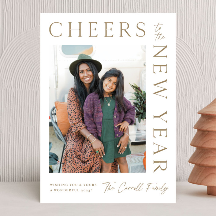 """""""New Years Wrap"""" - New Year Photo Cards in Wheat by Kristen Smith."""